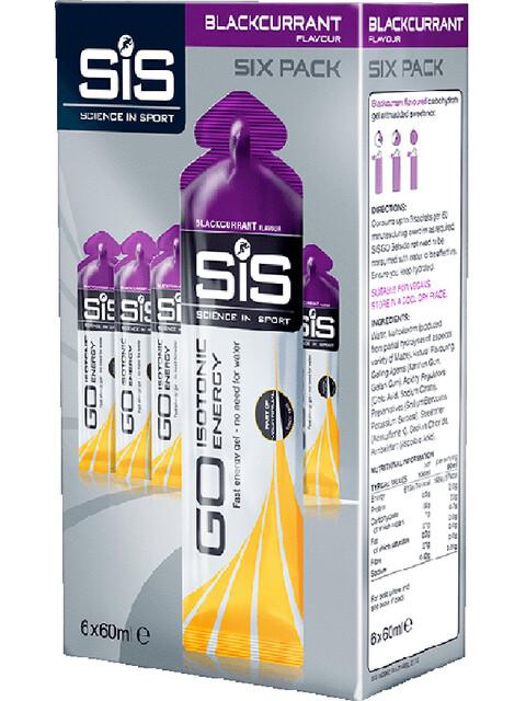 SiS GO Isotonic Energy Sports Nutrition Blackcurrant 6 x 60ml